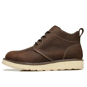 Nuovi uomini Hotesale Marca Martin Stivali cuoio genuino di vendita calda del 2018, scarpe Inghilterra Tooling Trend militare Boots, spedizione gratuita