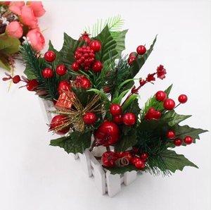 искусственный цветок красный жемчуг тычинок ягоды филиал для свадьбы Новогоднее украшение DIY день коробка подарка корабля Flowe GB748 Валентина