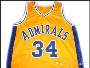 Benutzerdefinierte Männer Jugend Frauen Jahrgang ## 34 Kevin Garnett ADMIRALS College Basketball-Jersey-Größe S-4XL oder benutzerdefinierten beliebigen Namen oder Nummer Jersey