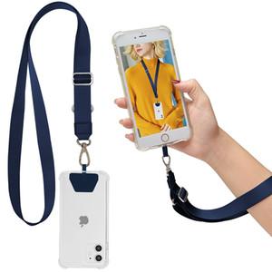 Сотовый телефон телескопические талрепы брелок ожерелье мода работа ID карты шейный ремень изготовленный на заказ логотип синий канат для iPhone se