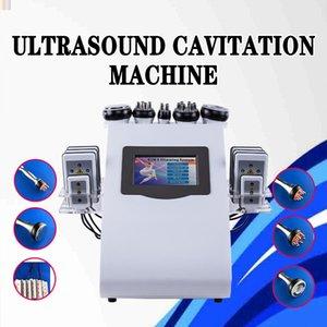 6 in 1 Ultraschall Kavitation Vakuum Explosive Geschwindigkeitsfett Cavitation 8pcs Lipo Laser Pad abnehmen Beauty Maschine CE