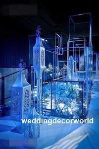 Venta caliente centro de la boda pieza de oro alto candelabros mentales decor0596