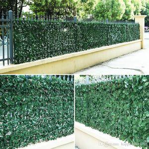 New 3M / 5M plástico Artificial Plantas Cerca Decor Jardim Quintal de parede Início Paisagismo Fundo Verde Decor Artificial ramo da folha Net