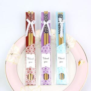 Bambus Stäbchen Praktische Chopstick Natur Verholzung der neuen Art-Ess-Stäbchen Personalisierte Hochzeit Bevorzugungen Werbegeschenke Geschenk Souvenir EEA903-8
