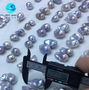Natural silver blue baroque fireball cultured freshwater cultured pearls loose beads online