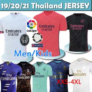 REAL MADRID 20 jerseys jersey de fútbol 21 PELIGRO DE SERGIO RAMOS BENZEMA VINICIUS camiseta de fútbol camiseta uniformes de los hombres + los niños juegos de piezas de 2020 2021