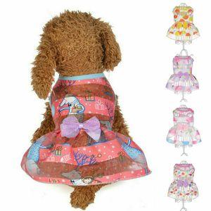 5 ألوان الكلب الأميرة اللباس الملابس جرو الحلو تنورة ملابس للشركات الصغيرة المتوسطة الحيوانات الأليفة XS-XL