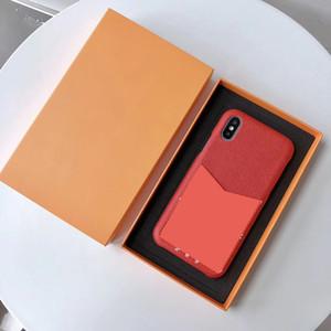 casos de telefone designer de luxo para iphone 11 Pro Max 6 7 8 mais Moda Com cobertura saco de cartão de volta para o iphone X XR XS MAX