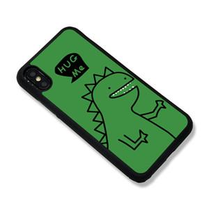 Hot Vente Iphone 11 / 11Pro / 11promax / X / XS / XR / 6/7/8 Estompée téléphone portable Cas vert Cartoon Dinosaurs Motif Couverture arrière Divers Styles