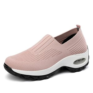 Women's walking shoes European and American style shallow air cushion sports fashion breathable sleeve feet large size 35-42