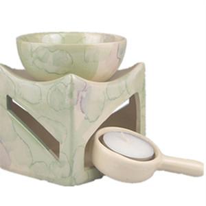 Brûleur d'encens en céramique de Fasion de brûleur à mazout d'Aromatherapy avec 3 lampes de parfum de base de support de bougie de métier