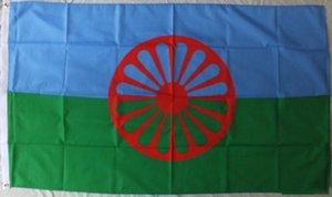Zigeuner Flagge Romani Völker Flagge 3x5FT 150x90 cm Druck Indoor Outdoor Flagge Mit Messing Ösen kostenloser Versand