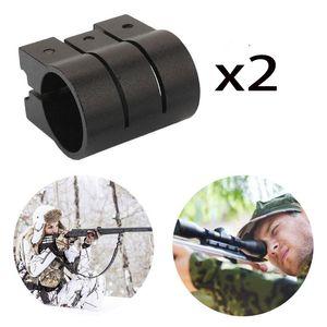 Magorui 2 개 1 인치 / 25.4mm 링 레이저 스코프 시력 위버 Picatinny 20mm 레일 소총 마운트