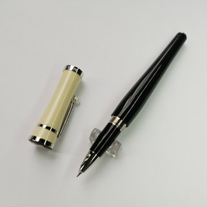caneta de luxo da marca canetas mb Greta Garbo monte resina preta Fountain Pen / pen bola de rolo com pérola prata papelaria grampo escola do escritório