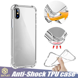 Doux TPU Clear Case pour Galaxy Note 20 S20 iPhone 12 11 PRO XR XS MAX antidétonantes cas Huawei P20 Lite transparent antichocs TPU Bumper Case