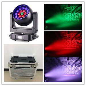 2pcs with flycase DMX 512 led rgbw b-eye 19 x 25w 4 in 1 rgbw zoom led wash beam moving light point control led beam moving head stage light