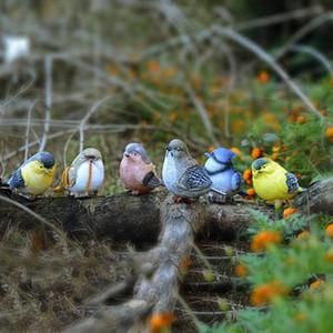 Simulación Resina Bird Home Garden Decor Originalidad Artes y manualidades Birds Portátil Venta caliente popular con varios patrones 3 68yz J1