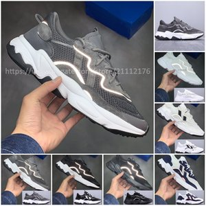 2019 New Mens Womens Ozweego Boost Laufschuhe Mode 3M Popcorn Designer Schuhe Sport Casual Walking Outdoors Athletic Sneakers