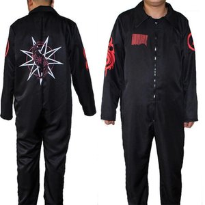 SlipKnot Theme Costume Halloween Party Dress Digital Printed Long Sleeved Black Uniforms Movie Stars Cosplay