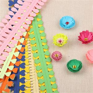Arte DIY fiore Handmade colorato del tipo di carta quilling fiore a forma di striscia di carta in rotolo 5 colori (5pair / 10pcs) Studente Origami Materiale