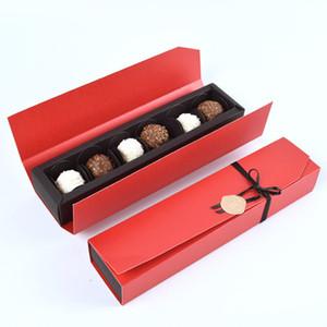 Wedding Favor Box 6pcs Imballaggio Chocolate Chocolate Box Paper Box Baby Shower di compleanno di Natale favori di partito 24 * 5.5 * 3.5cm