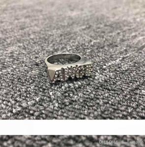 AWGE carta clásico dedo anular nuevo anillo de ASAP Rocky con el oro y la plata al contado de dos colores de la perforación sur lisa