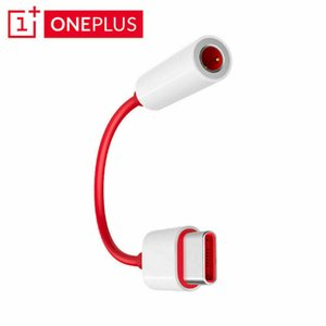 original para OnePlus 6T 7Pro USB tipo C Para 3,5 milímetros fone Jack Adapter Aux Áudio