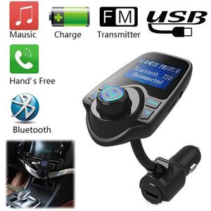 T10 Car Audio Reproductor de MP3 FM Transmisor inalámbrico Bluetooth del coche del modulador kit de manos libres cargador USB Display LCD