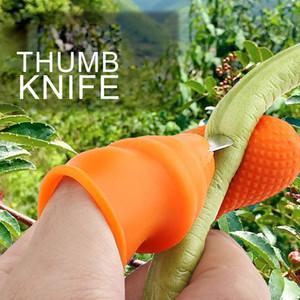 Pollice Potatura della taglierina del silicone di separazione Finger Picking Tools Dispositivo per la raccolta delle piante da giardino Giardinaggio potatura Strumenti