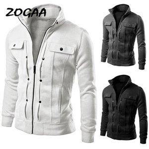 Giacca ZOGAA 2020 Nuova Uomini Felpa rivestimento sottile pile solido Colore Felpa Pullover Pocket Uomo Abbigliamento Uomo