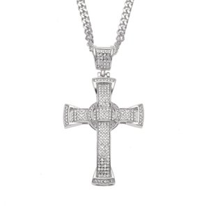 Colgante de cruz de diamante hip hop rap hip hop masculino