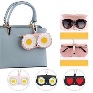 Eyeglasses Bag 9 color Cute Weird Goggles Clip Key Hanging Handbag Ornament Accessories Portable Sunglasses Cases