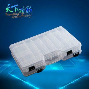 TAF Fishing Box 29cm*19cm*6cm Double Sided Hign Quality Plastic Fishing Tackle Box Portable Waterproof Case for Carp