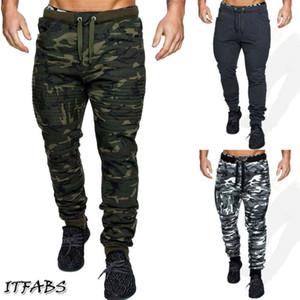 Moda Askeri Kamuflaj Pantolon Erkekler 2020 Yeni Koşu Egzersiz Spor Salonları Kamuflaj Casual Streetwear Pantolon pantolon Erkekler eşofman sıska