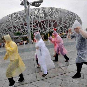 Moda Bir kerelik Yağmurluk Sıcak Yetişkin Tek Kullanımlık Trençkotlar Tek Panço Rainwear Seyahat Kamp Yağmur Coat Yağmur Aşınma ZZA2111