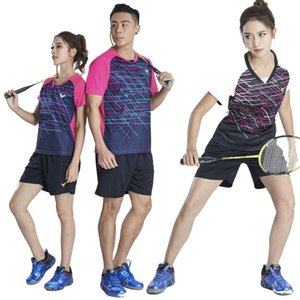 1922+7023 Victory Quick-drying Breathable Badminton Wear Suits Short Sleeve lapel neck T-shirt shorts Running Table tennis Wear
