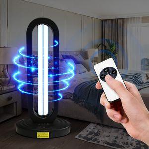 220V ultraviolet stérilisant Télécommande de désinfection UV 38W Lumière haute Ozone Lampe UVC germicide avec support de lampe