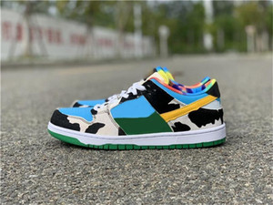 Authentic Ben &Jerry &#039 ;S X Sb Dunk Low Pro Qs Chunky Dunky Casual Shoes Men Women Lagoon Pulse University Gold Cu3244 -100 Sneakers