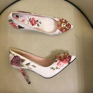 Flower Shoes Women Heel Mesh Dress High Shoes Heels Sexy Summer Pumps Party Womens Women Hollow Embroider 2021 Pumps Jwojj