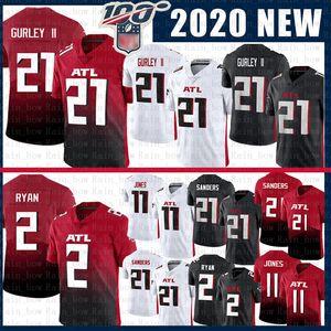 11 Julio Jones 21 Todd Gurley II 2020 Nuevo Vapor Limiteds Camiseta de fútbol Atlanta 2 Matt Ryan Falcon 21 Deion Sanders Jerseys Rojo Negro
