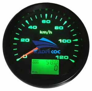 최신 8 가지 종류의 백라이트 컬러 계기판 게이지 85mm 속도 주행기 0-120km / h GPS 속도계 9-32v for Auto Ship RV