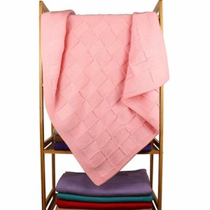 Soft Lattice Baby Knitted Cover Blanket Warm Stroller Cover Blanket Windproof Quilt Thickened Solid Outdoor Autumn And Winter9q2z#