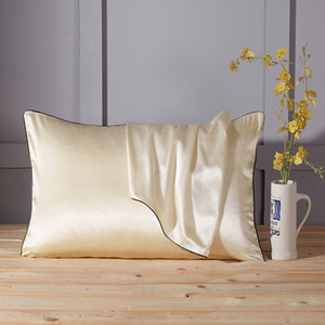 Fundas de almohada de seda Mulberry Funda de almohada sin cremallera para el cabello y la piel Hipoalergénico poszewki en poduszki 48x74cm