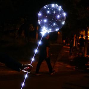doğum günü partisi için Helyum Mükemmel'dir Normalde Led Işık Yukarı BoBo Balloons 20 İnç Renkli / WarmWhite Doldurulabilir Şeffaf Balonlar