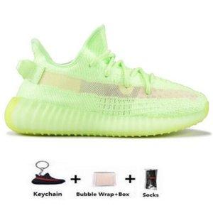 Barato blanco Kanye West blanco Hombres Mujeres zapatos para correr Yecheil Yeezreel hiperespacio Lundmark Antlia estático reflectante cebra Israfil Oreo lino