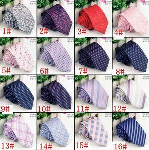 Erkekler Boyun Tie İş Örgün Kravat Düğün Moda Bağları Moda boyunbağı daraltmak Ok Kravat Skinny Çizgili Kravat 16 tasarım KKA1983