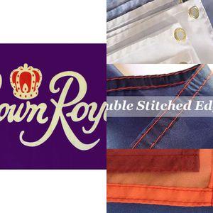 Crown Royal Flag 3x5 Ft Banner 100d 150x90cm poliestere ottone Occhiello personalizzati Bandiera stampato, trasporto libero