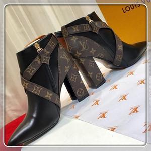 louis vuitton Lv Мода женщина сапоги лодыжки Мартин топ роскошные кожаные женские туфли Chaussures de Star Trai размер 35-40l