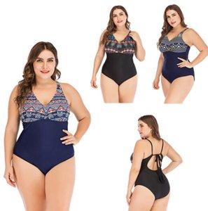 TOP 2022 Fat grand, plus la taille imprimé angle plat mince sexy une pièce bikini jupe maillots de bain yakuda conservateur style souple ensembles Maillots