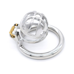 Male Short Chastity Cage Men's Small Size Stainless Steel Locking Belt Device Hot Selling Sexy Toys DoctorMonalisa CC267-1